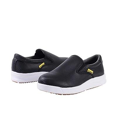 DDTX Chef Work Kitchen Nurse Shoes Unisex SRC Anti-Slip Oil and Water Resistant Lightweight Black/White 4.5-13US: Shoes