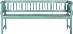 Safavieh PAT6732D Outdoor Table, Beach House Blue/Beige