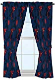Marvel Spiderman Classic Saving The Day 63'' Decorative Curtain/Drapes 4-Piece Set (2 Panels, 2 Tiebacks)