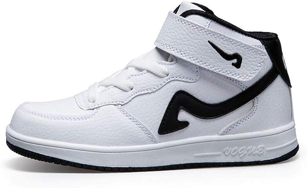 Calzado Deportivo de Baloncesto para niños con Top Velcro Moda Zapatillas Blancas Calzado Casual para niños y niñas Grandes: Amazon.es: Zapatos y complementos