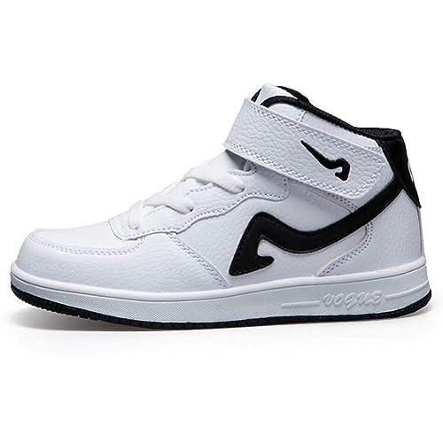Calzado Deportivo de Baloncesto para niños con Top Velcro Moda Zapatillas Blancas Calzado Casual para niños y niñas Grandes: Amazon.es: Zapatos y ...