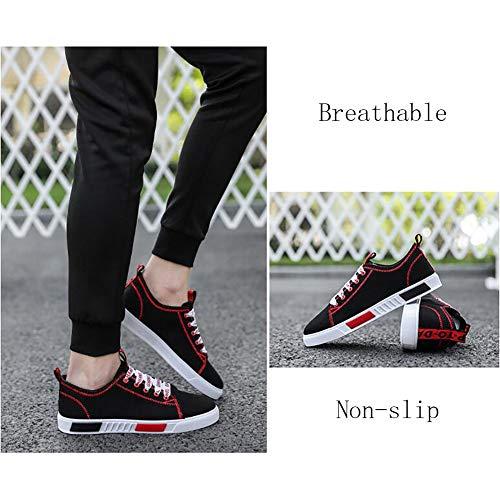 Scarpe E Sneaker Scarpe In Da Tela Da Uomo Espadrillas Red Casual FHTD Piatte Comfort Passeggio Morbide Leggere dqx0Ozn4
