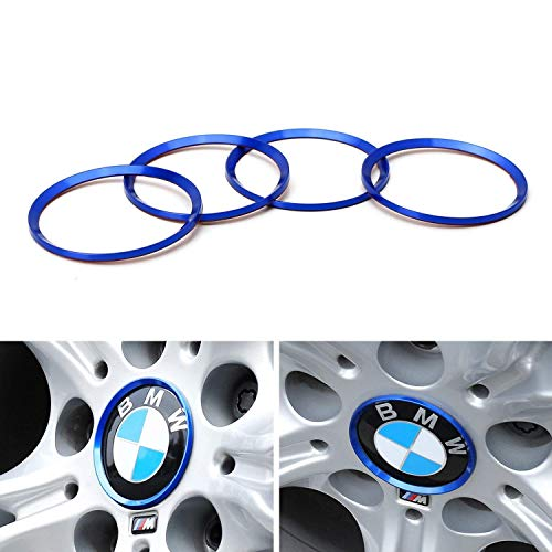 iJDMTOY (4) Anodized Blue Aluminum Wheel Center Cap for sale  Delivered anywhere in USA