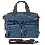 XHHWZB Messenger Satchel Bag Men Women,Vintage Canvas 14-inch Laptop Briefcase Everday Use 15.15''(L) X11.22(H) X 5.11''(W) (black)