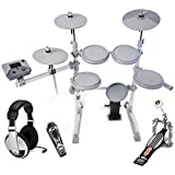 KAT KT1 5-Piece Digital Drum Set with Single Bass Drum Pedal and Headphones