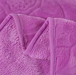 Jacquard Floral Flannel Bed Blanket Extra Soft Warm Plush Easy Care Thicken Fluffy Bedding Blankets for Adult Women Men Bed Room