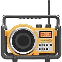 Sangean LB-100 LUNCHBOX Compact FM/AM Ultra Rugged Worksite Radio Receiver, Rain Resistant to JIS4 Standard, Dust Resistant, Shock Resistant, Digital PLL Tuner FM & AM