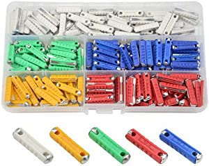 WMYCONGCONG 200 PCS Car Fuses European Automotive Fuse 5A 8A 10A 16A 25A for Classic Cars Old Style, Not Ceramic