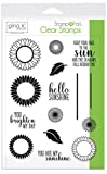 Gina K. Designs for Therm O Web StampnFoil Clear Stamps, Graphic Sunflowers