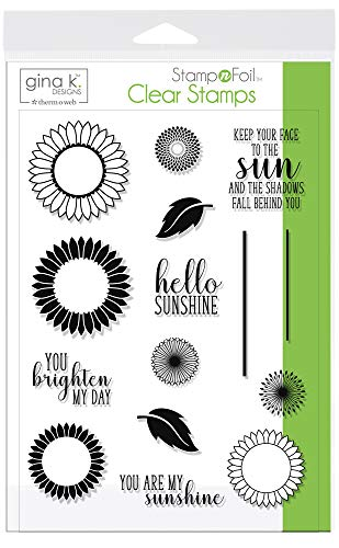 Gina K. Designs for Therm O Web StampnFoil Clear Stamps, Graphic Sunflowers by Gina K. Designs for Therm O Web