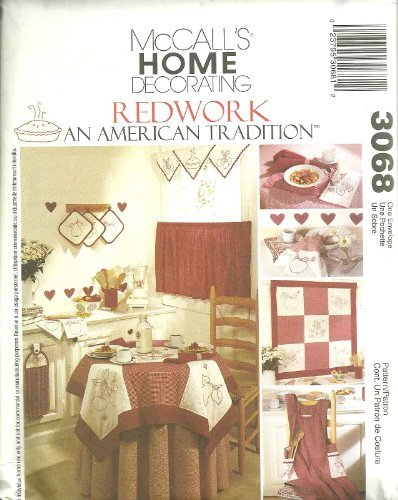 Kitchen Accessories Redwork - an American Tradition McCalls Home Decorating pattern 3068 by McCall's Home Decorating