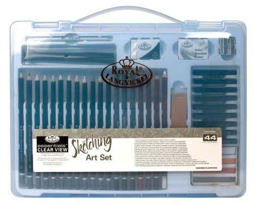 ROYAL BRUSH RSET-ART3205 Clear View Essentials Clear View Art Set-Sketching by Royal & Langnickel