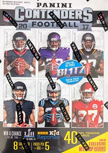 2017 Panini Contenders Football 5-count Blaster Box