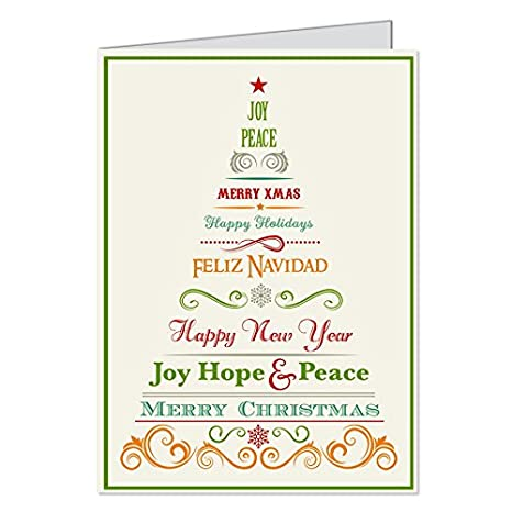 Amazon.com : Traditional, Christmas Cards, Happy New Year, Joy ...