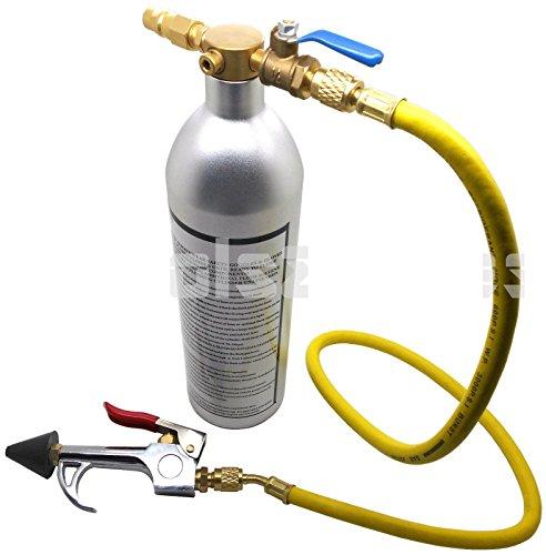R12 Air (R134 R12 R22 R410 R404 A/C AC Air Conditioner System Flush Canister Gun Kit)