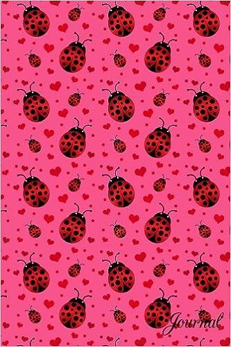 Amazon.com: Journal: Pink ladybugs hearts notebook ...