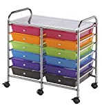 Blue Hills Studio SC12MCDW Storage Cart 12-Drawer (Standard) Multi-Colored