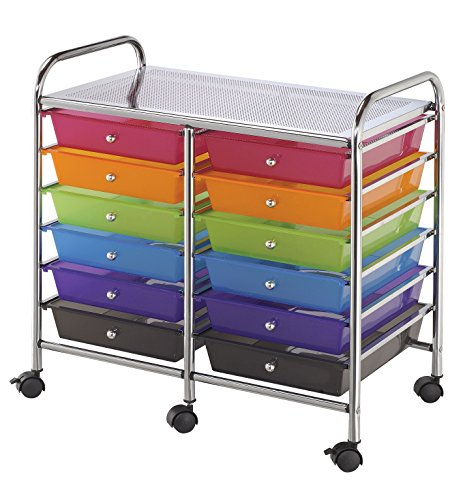 Blue Hills Studio SC12MCDW Storage Cart 12-Drawer (Standard) Multi-Colored by Blue Hills Studio