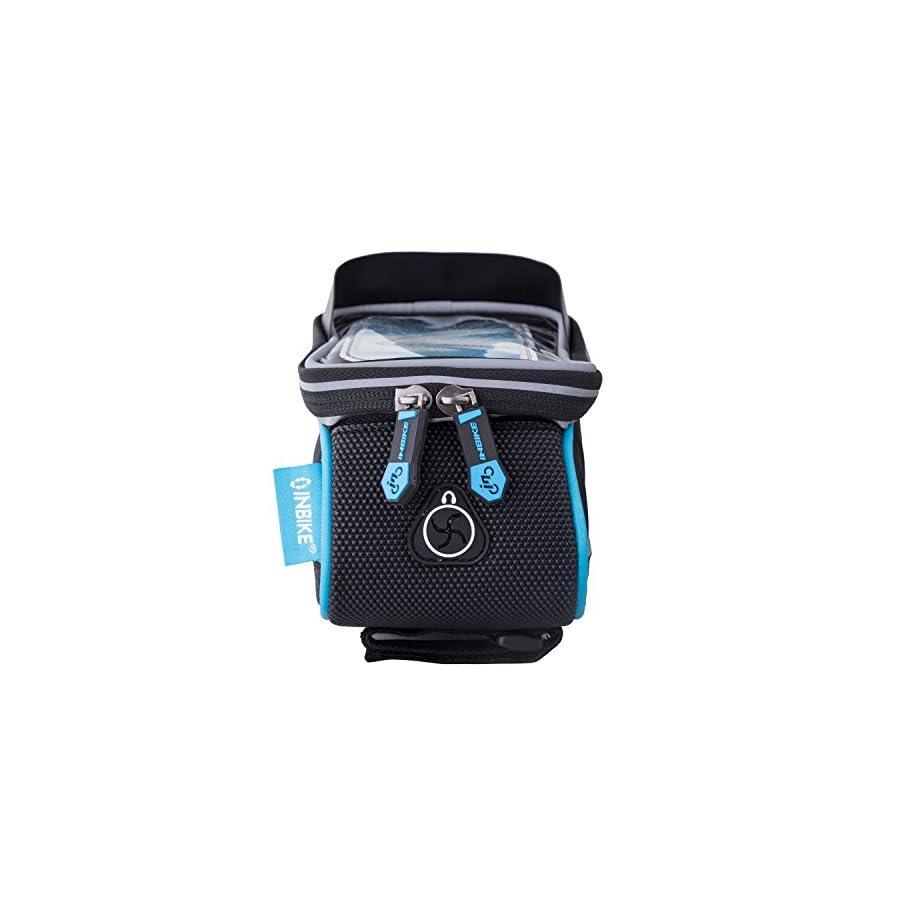 "INBIKE Bike Phone Bag, Waterproof Top Tube Bicycle Bag Touch Screen Fits 5.7"""