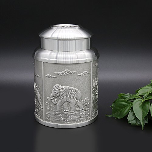 Oriental Pewter Pewter Tea Storage Caddy -TPCL2- Hand Carved Beautiful Embossed Pure Tin & Oriental Pewter Pewter Tea Storage Caddy -TPCL2- Hand Carved ...