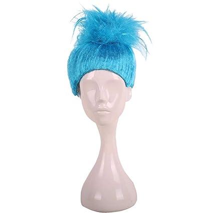 Peluca de elfo azul mágica trol infantil llama peluca ...