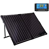 SUNGOLDPOWER 130 Watt 12V Off Grid Monocrystalline Portable Foldable Solar Panel Suitcase with 10A Waterproof Charge
