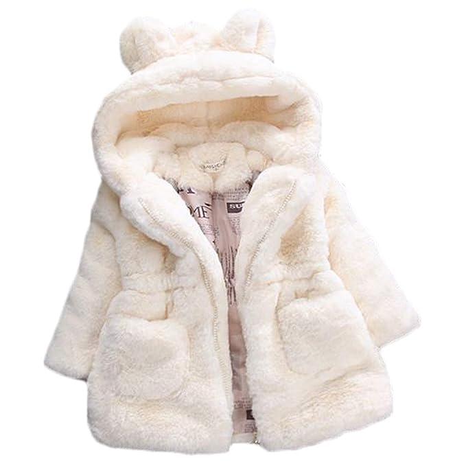 Huicai Abrigo de algodón para niñas, niños de Piel sintética Abrigo de Solapa de Lana Abrigo de Invierno cálido Chaqueta para niñas: Amazon.es: Ropa y ...