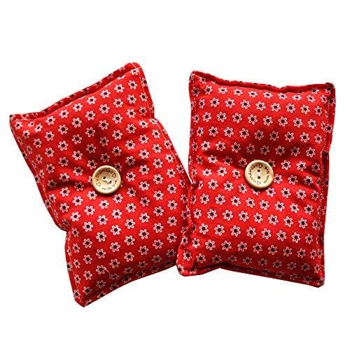 """Mini almohada Duerme Bien""""Flores Rojo"""" (Pack 2) de semillas lavanda - Colócala debajo de tu almohada o cojín para dormir bien, calmar los nervios y relajarte 13x10cm"""