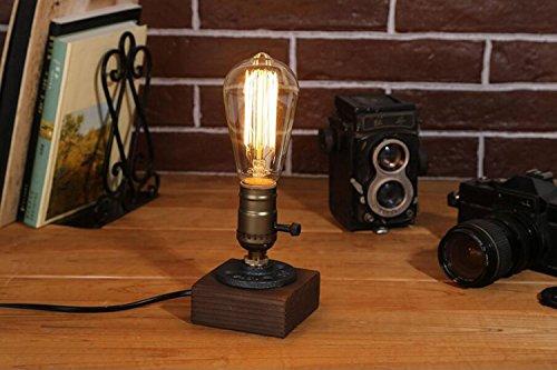 Edison lamp/Rustic Home decor/Farmhouse decor/Table lamp/Industrial lighting/Steampunk pipe light/housewarming/gift for men/desk accessories (Porch Lighting Ideas Creative)