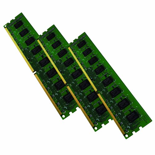 PNY 12 GB (3x4 GB) PC3-10666 1333 MHz DDR3 240-Pin SDRAM Desktop DIMM ECC Triple Channel Kit, (Ddr Sdram Dimm Dual Channel)