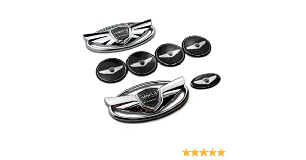 Amazon.com: 7pcs nuevas Wing Negro Mate en 3d insignia emblema calcomanía para: Automotive