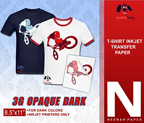 NEENAH 3G JET-OPAQUE HEAT TRANSFER PAPER 8.5 X 11' CUSTOM PACK 100 SHEETS