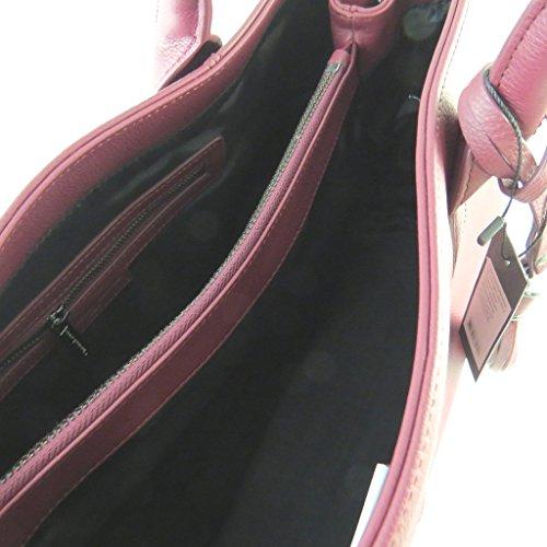 """Christian Lacroix [N9746] - Sac cuir """"Christian Lacroix"""" bordeaux (2 compartiments) - 41x26. 5x16. 5 cm"""