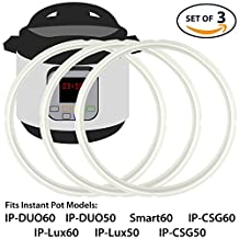 Silicone Sealing Ring Accessory Compatible with Instant Pot Pressure Cooker | Silicone Gasket Seal Compatible with IP-DUO60, IP-DUO50, SMART60, IP-CSG60, IP-Lux60, and many more