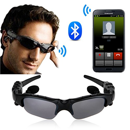Sports Stereo Wireless Bluetooth Headset Telephone Polarized Driving Sunglasses mp3 Riding Eyes Glasses Fishing Outdoor Sunglasses Handfree For iPhone Samsung HTC EC-79 (Bluetooth Glasses With Mp3)