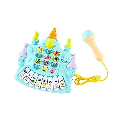 QARYYQ El micrófono del bebé del Teclado de la música del bebé cantará los Juguetes de Las niñas Piano para niños Piano (Color : Random Color): Hogar