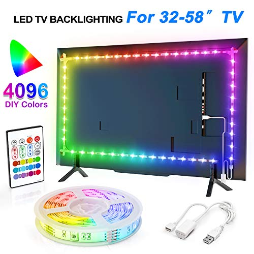 YEEMAYLUX TV LED Backlight,Classic 4096 Color Changing USB led Light Strip with Remote for tv Backlight/RGB led Strip…