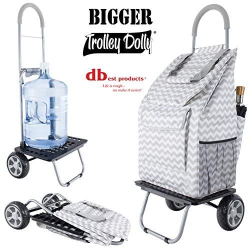 dbest products - Carrito de bebé con diseño de muñeca, Color Azul, Gris Chevron, 1, 1