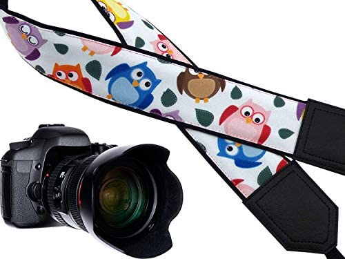 Durable Light Weight and Well Padded Camera Strap. Skull Camera Strap Black and White Skulls Camera Strap Modern DSLR//SLR Camera Strap Crossbones