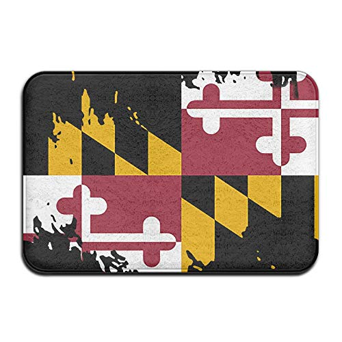 Lalamin US State Marylands Flag Welcome Doormat Front Door M