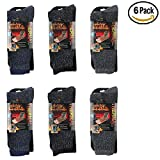 heat sox - 6 Pair Men's Heated Socks Warm All Season Supreme Thermal Warmth TOG Rating 2.3 Heat Zone Sox (6 Pack - 2 Black, 2 Navy Blue, 2 Grey), Shoe Size 6-12