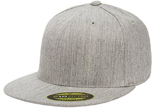 Flexfit Premium 210 Fitted Flat Brim Baseball Hat w/THP No Sweat Headliner Bundle -