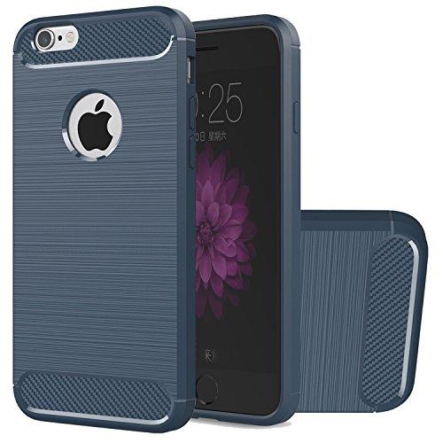 Hülle iPhone 6s Plus, HICASER Rugged Armor Case Ultraslim Flexible TPU Anti-rutsch Drop Resistance Handytasche Schutzhülle für iPhone 6 Plus / 6s Plus 5.5-Zoll Navy blau