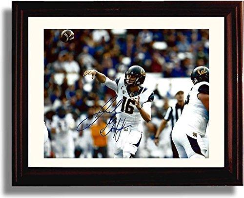 Framed Jared Goff - Cal Football No 1 Pick Autograph Replica Print - California Golden Bears