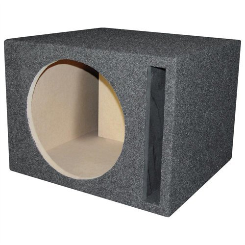 R/T 300 318-15 Enclosure Series - Single 15-Inch Slot Vented Sub Bass Hatchback Speaker Box with Labyrinth Power Port ()