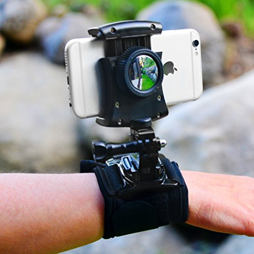 Pixlplay – Smartphone Wristband Holder for iPhone and Android with Swivel & Rotation Ideal for Hiking, Biking, Jogging & Selfies by Pixlplay