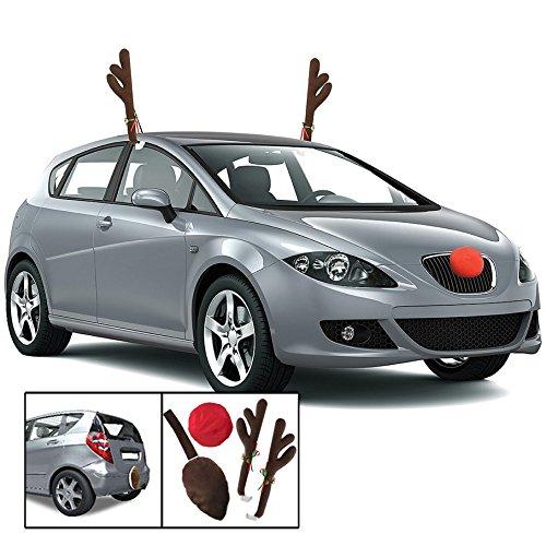 KOVOT Reindeer Car Set: Includes Car Jingle Bell Antlers ...
