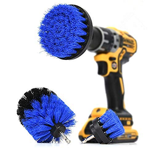 ORIGINAL Drill Brush 360 Attachments 3 pack kit -Blue All purpose Cleaner Scrubbing Brushes for Bathroom surface, Grout…
