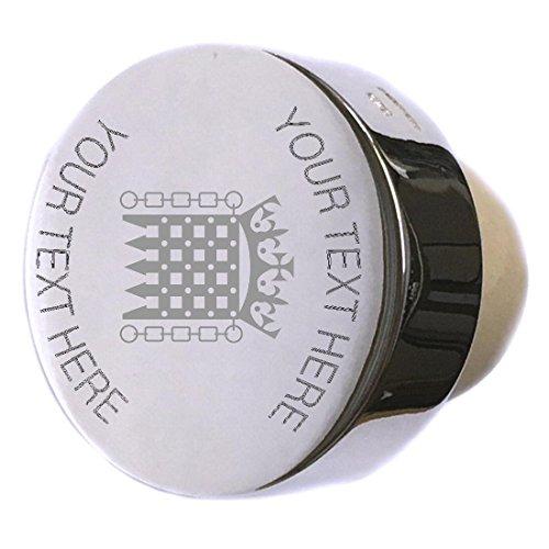 (Castle Throne Gate Logo Sterling Silver Bottle Stopper Engraved)