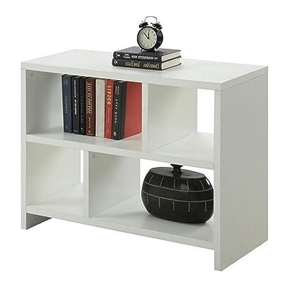 Enjoyable Amazon Com Myeasyshopping White 2 Shelf Modern Bookcase Download Free Architecture Designs Rallybritishbridgeorg